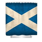 Scotland Flag Vintage Distressed Finish Shower Curtain by Design Turnpike