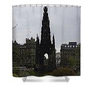 Scott Monument Inside The Princes Street Gardens In Edinburgh Shower Curtain