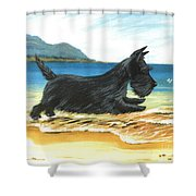 Scottie At Play Shower Curtain