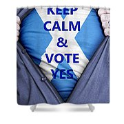 Scottish Businessman Votes Yes Shower Curtain