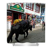 Scottish Pub In Lukla Shower Curtain
