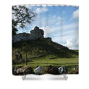 Scottish Castle Ruins Shower Curtain