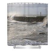 Scottish Sea Storm Shower Curtain