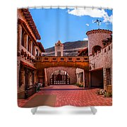 Scotty's Castle Courtyard Shower Curtain