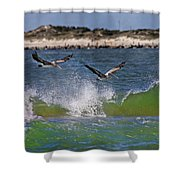 Scouting For A Catch Shower Curtain