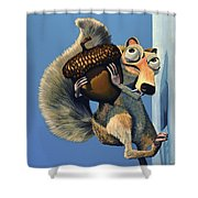 Scrat Of Ice Age Shower Curtain