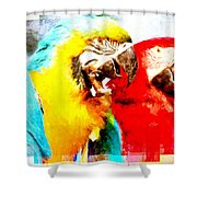 Scratch Layers Shower Curtain