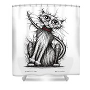 Scratchy Cat Shower Curtain