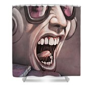 Screamer Shower Curtain by Gillian Singleton