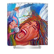 Screamin Angel Shower Curtain