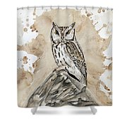 Screech Owl Shower Curtain