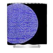 Screen Orb-05 Shower Curtain