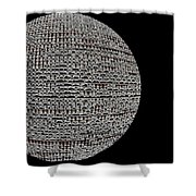 Screen Orb-06 Shower Curtain