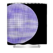 Screen Orb-08 Shower Curtain