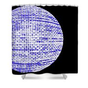 Screen Orb-09 Shower Curtain