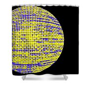 Screen Orb-10 Shower Curtain