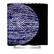 Screen Orb-11 Shower Curtain