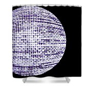 Screen Orb-12 Shower Curtain