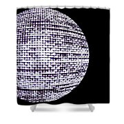 Screen Orb-14 Shower Curtain