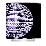 Screen Orb-15 Shower Curtain