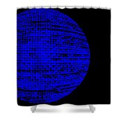 Screen Orb-16 Shower Curtain