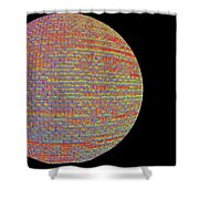Screen Orb-17 Shower Curtain