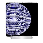 Screen Orb-18 Shower Curtain