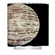 Screen Orb-19 Shower Curtain