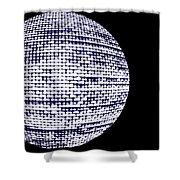 Screen Orb-20 Shower Curtain