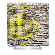 Screen Orb-25 Shower Curtain