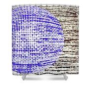 Screen Orb-30 Shower Curtain