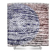 Screen Orb-33 Shower Curtain