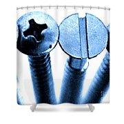 Screw Heads Shower Curtain