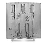 Screwdriver Patent Drawing Shower Curtain