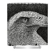 Scribble Eagle Shower Curtain