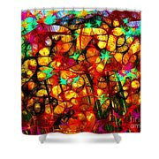 Scribble Flowers Shower Curtain