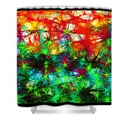 Scribble Thicket Shower Curtain
