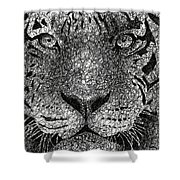 Scribble Tiger Shower Curtain