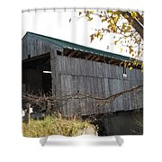 Scribner Bridge Johnson Vermont Shower Curtain