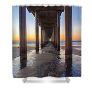 Scripps Pier #1 Shower Curtain