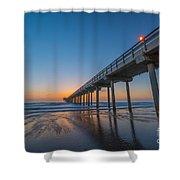 Scripps Pier Shower Curtain