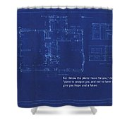 Scripture And Picture Jeremiah 29 11 Shower Curtain