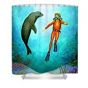 Scuba Diver One Shower Curtain