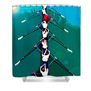 Rowing In The Sun Shower Curtain