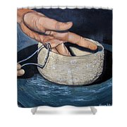 Sculpted By The Masters Hands Shower Curtain