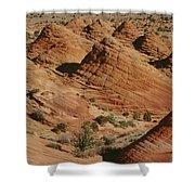 Sculpted Colorado Sandstone Paria Canyon Shower Curtain