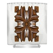 Sculpted Mandala Yantra Shower Curtain