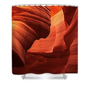 Sculpted Sandstone Upper Antelope Slot Canyon Arizona Shower Curtain