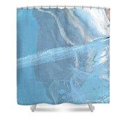 Sculpting A Blue Streak Shower Curtain