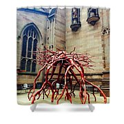 Sculpture At Trinity Church Shower Curtain